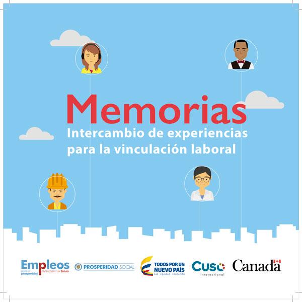 Memorias: intercambio de experiencias para la vinculación laboral